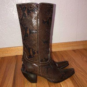 Donald J. Pliner Limited Python Western Boots